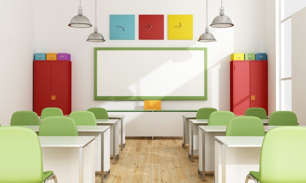 colorful clean classroom