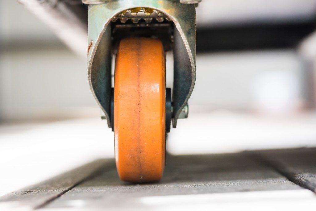 Wheel On Wood Floor