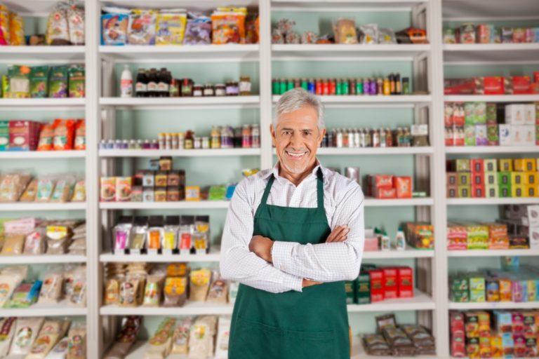 man at his store